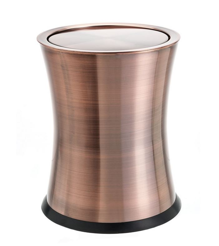 Copper Trash Can · Also Available In Grey And Black Less Than $75